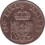 3 pfenninge - Friedrich Wilhelm IV -  avers