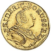 1 kreuzer Friedrich II (Frappe essai en or) – avers