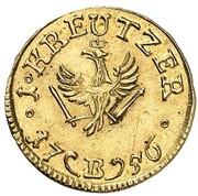 1 kreuzer Friedrich II (Frappe essai en or) – revers