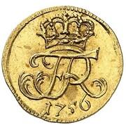 1 gröschel Friedrich II (Frappe essai en or) – avers