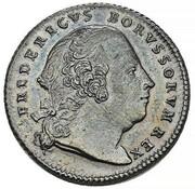 1 ducat Friedrich II (Frappe essai en argent) – avers