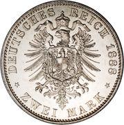 2 Mark - Friedrich III – revers