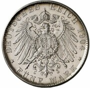 5 mark Wilhelm II (Essai) – revers