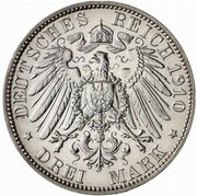 3 mark Wilhelm II (University of Berlin - Pattern) – revers