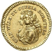 ½ ducat Friedrich I (Marriage) – avers