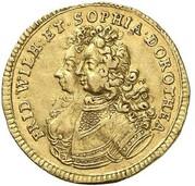 1 ducat Friedrich I (Marriage) – avers