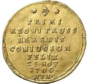 1 ducat Friedrich I (Marriage) – revers