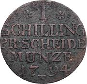 1 schilling - Friedrich Wilhelm II – revers