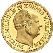 ½ Krone - Friedrich Wilhelm IV – avers