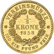½ Krone - Friedrich Wilhelm IV – revers