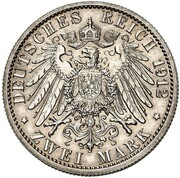 2 Mark - Wilhelm II (Reign - Pattern) – revers