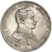 3 Mark - Wilhelm II (Essai) – avers