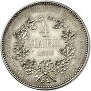 4 mark Wilhelm II – revers