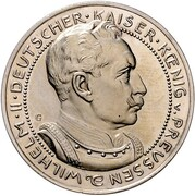 3 mark Wilhelm II – avers