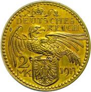 2 Mark - Wilhelm II (Pattern) – revers