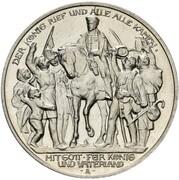 3 Mark - Wilhelm II (Declaration of war of Prussia against Napoleon - Pattern) – avers