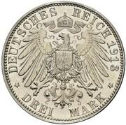3 Mark - Wilhelm II (Declaration of war of Prussia against Napoleon - Pattern) – revers