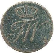 ½ kreuzer Friedrich Wilhelm III – avers