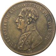 Jeton - Friedrich Wilhelm III (Peace and the Treaty of Paris; Prussia) – avers