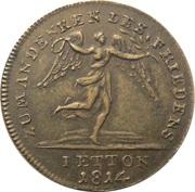 Jeton - Friedrich Wilhelm III (Peace and the Treaty of Paris; Prussia) – revers