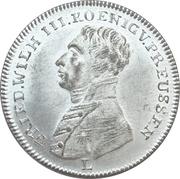 Token  - Friedrich Wilhelm III (Peace and the Treaty of Paris; Prussia) – avers