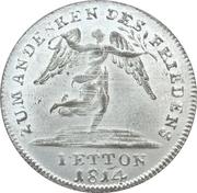 Token  - Friedrich Wilhelm III (Peace and the Treaty of Paris; Prussia) – revers