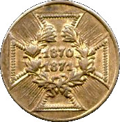 Army Medal - Prussia 1870-1871 (small type) – revers
