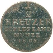 ½ kreuzer Friedrich Wilhelm III – revers