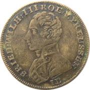 Jeton - Friedrich Wilhelm III - Neue Ehre Neues Glück – avers
