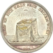 Presentation medal of religious confirmation Type 1.3 – revers
