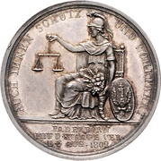 Medal - Friedrich Wilhelm III. Homage to Prussia upon Annexation of Paderborn – revers