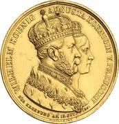 Couronnement de Guillaume Ier comme roi de Prusse – avers