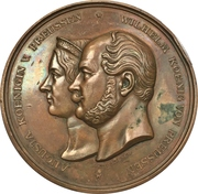 Medal - Opening of the train line Koblenz-Oberlahnstein (Prussia) – avers