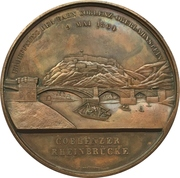 Medal - Opening of the train line Koblenz-Oberlahnstein (Prussia) – revers