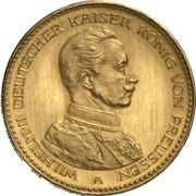 10 Mark - Wilhelm II (Pattern) – avers