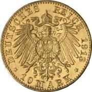 10 Mark - Wilhelm II (Pattern) – revers