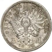 5 Mark - Wilhelm I (Pattern) – revers