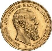 20 Mark - Wilhelm II & Friedrich III (Pattern) – revers