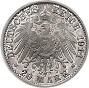 20 Mark - Wilhelm II (Pattern) – revers