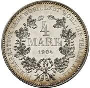 4 Mark - Wilhelm II (Pattern) – revers