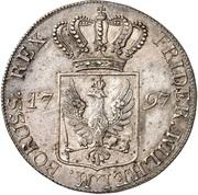 1 thaler Friedrich Wilhelm II – avers
