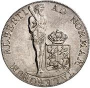 1 thaler Friedrich Wilhelm II – revers