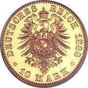 10 Mark - Friedrich III – revers