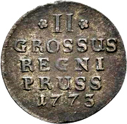 2 gröscher - Friedrich II – revers
