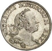 ⅓ thaler Friedrich II – avers