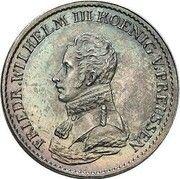 ⅙ thaler Friedrich Wilhelm III (Visite de la monnaie) – avers