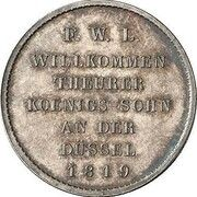 ⅙ thaler Friedrich Wilhelm III (Visite de la monnaie) – revers