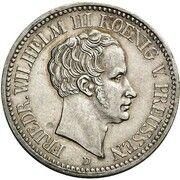 1 thaler Friedrich Wilhelm III (Visite de la monnaie) -  avers