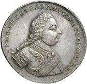 1 thaler Friedrich Wilhelm I – avers