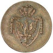 1 schilling Friedrich Wilhelm III (Frappe essai en cuivre) – avers